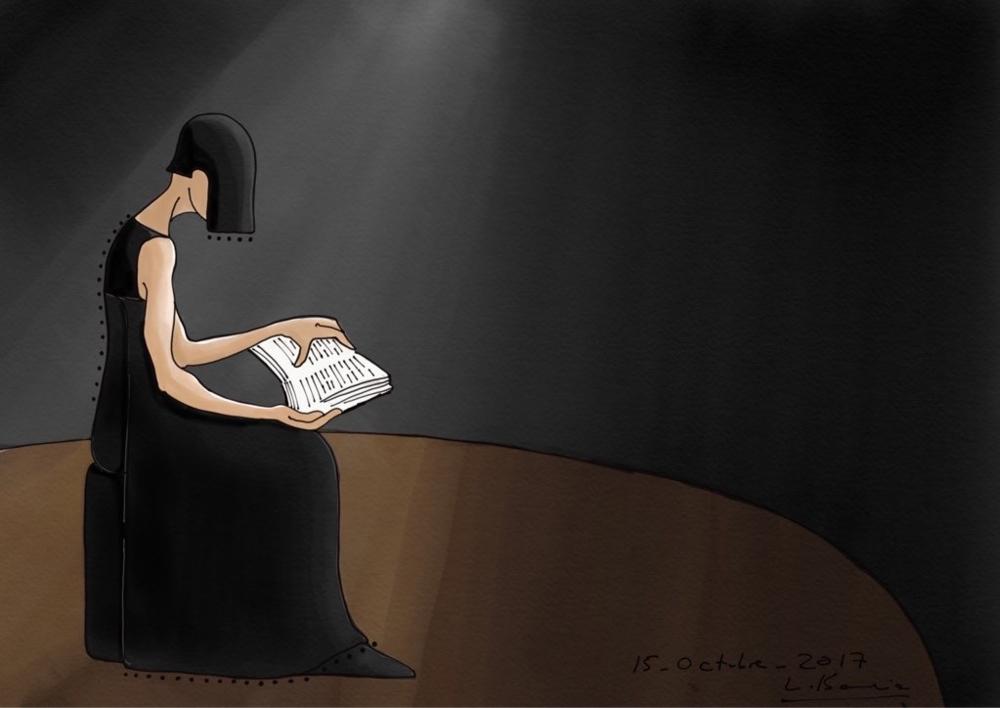 Mujer leyendo |Digital de Lola Barcia Albacar | Compra arte en Flecha.es