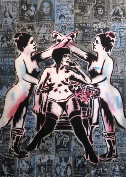 Dry Blood I (Groupies) |Pintura de Carlos Madriz | Compra arte en Flecha.es