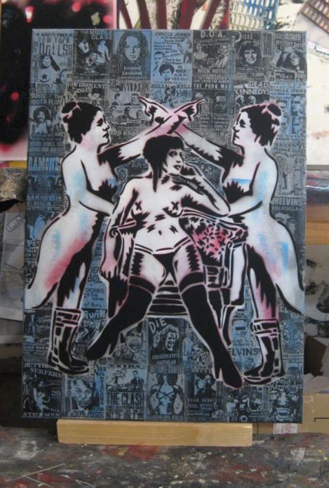 Dry Blood I (Groupies) | Pintura de Carlos Madriz | Compra arte en Flecha.es