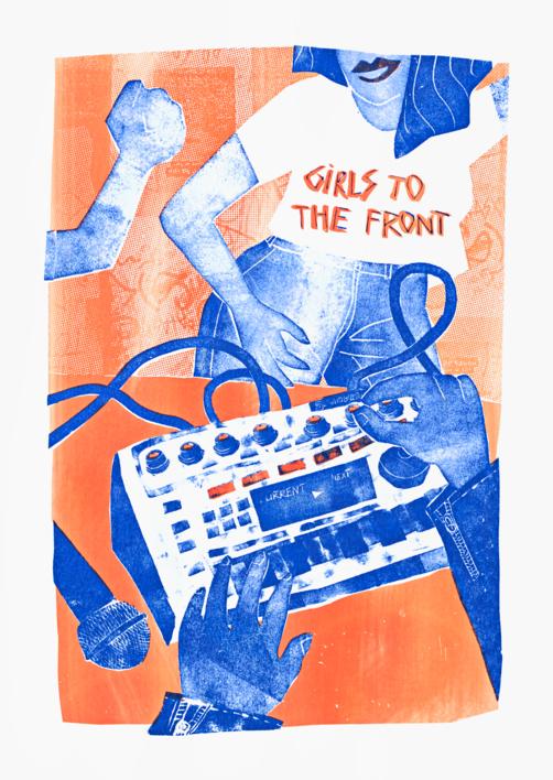 Girls to the front |Ilustración de Mar Estrama | Compra arte en Flecha.es