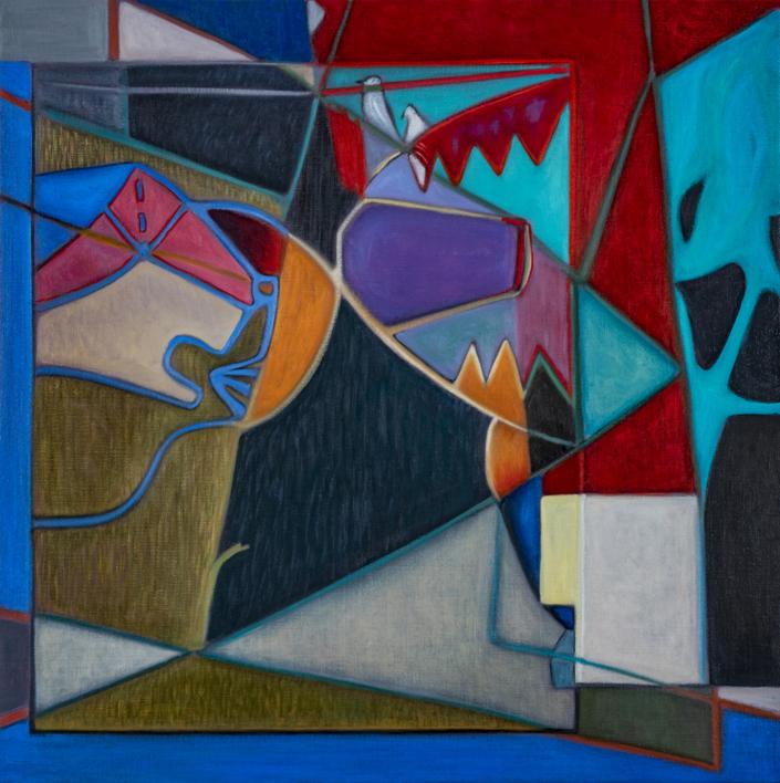 Two Birds on a Wire |Pintura de Helena Revuelta | Compra arte en Flecha.es