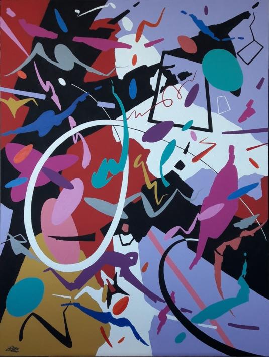 ADAGIO - Johann Sebastian Bach  Pintura de Valeriano Cortázar   Compra arte en Flecha.es