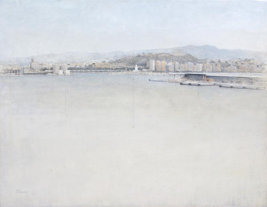 Puerto de Málaga  Pintura de José Luis Romero   Compra arte en Flecha.es