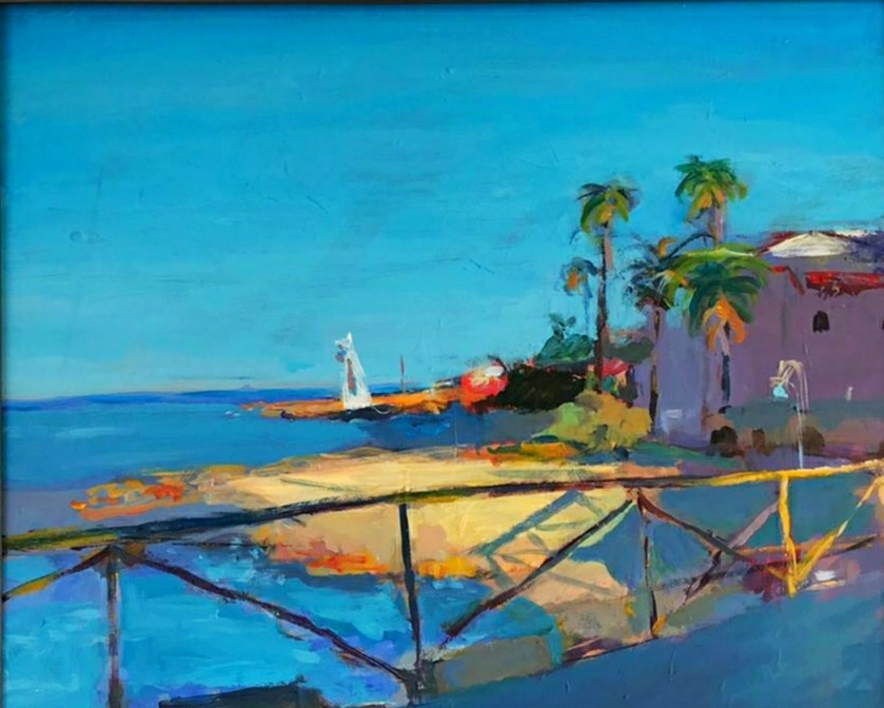 Cala Goset |Pintura de Luz Parra | Compra arte en Flecha.es