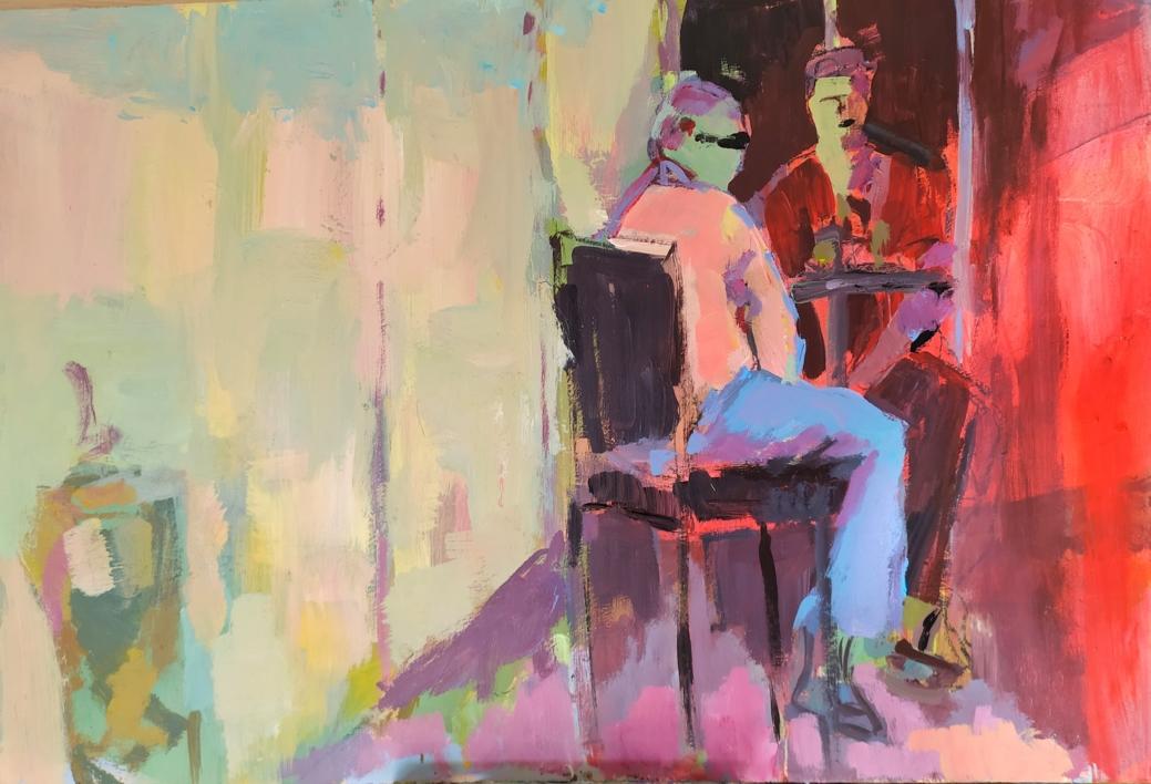Café en Arles |Pintura de Luz Parra | Compra arte en Flecha.es