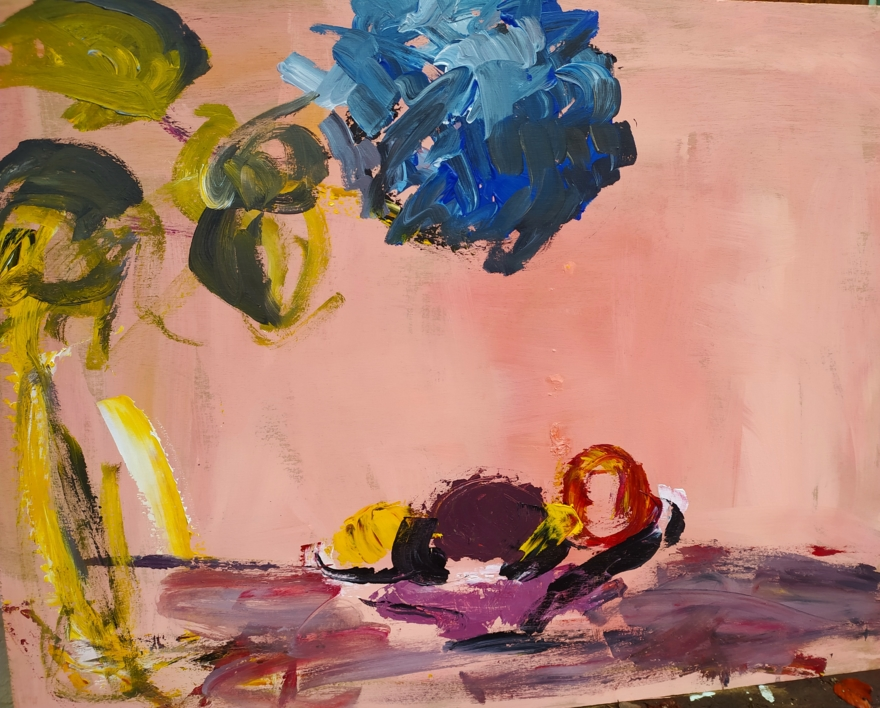 Hortensia |Pintura de Luz Parra | Compra arte en Flecha.es