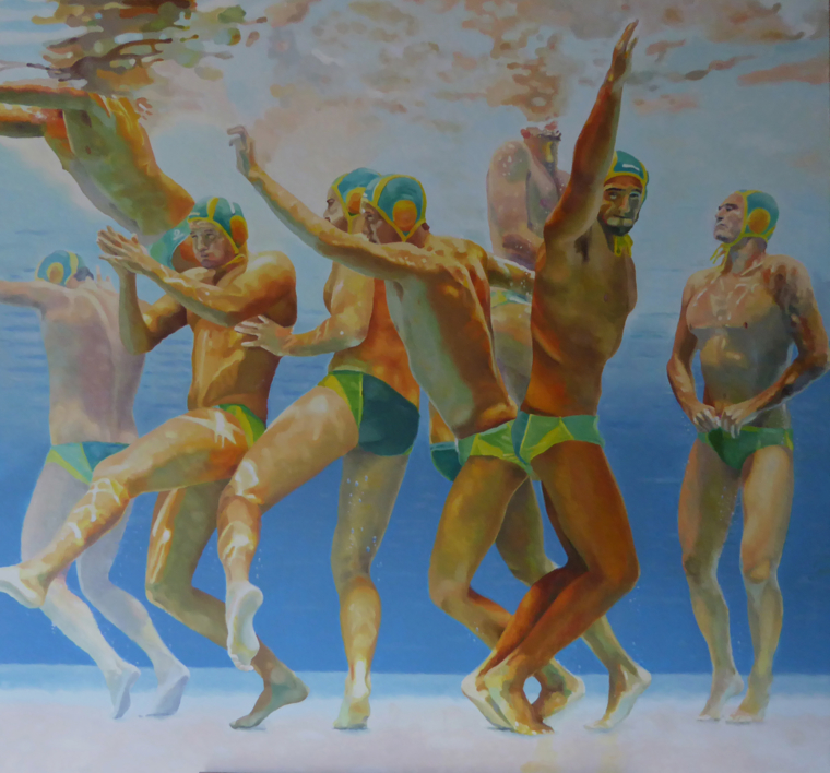 WATERPOLO |Pintura de Jose Belloso | Compra arte en Flecha.es