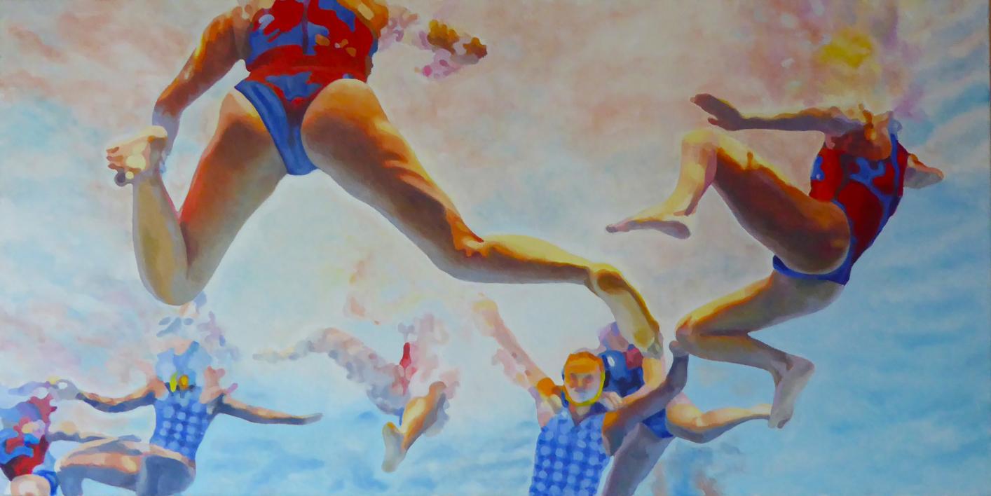 WATERPOLO FEMINAS |Pintura de Jose Belloso | Compra arte en Flecha.es