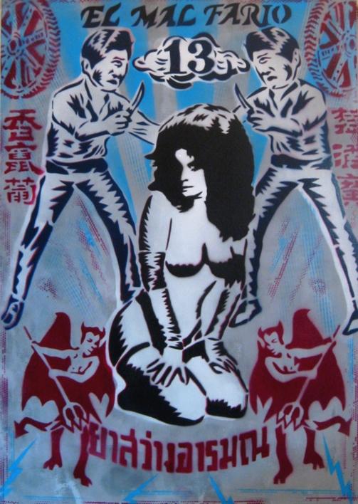 El Mal Fario |Pintura de Carlos Madriz | Compra arte en Flecha.es