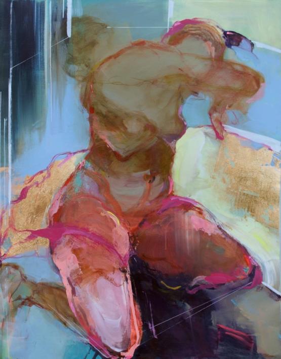 Feeling Your Presence 4 (Sintiendo tu presencia 4)  Pintura de Magdalena Morey   Compra arte en Flecha.es