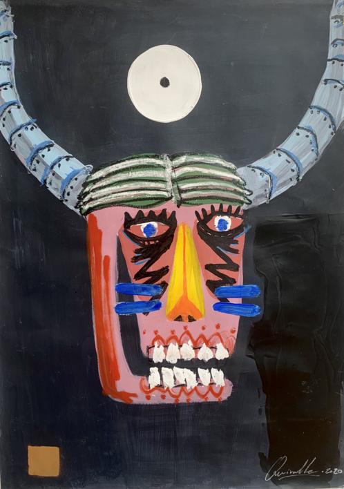 Dos cabezas de toro 02 |Dibujo de CARLOS QUIRALTE | Compra arte en Flecha.es