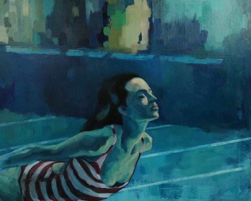 Sumergirse |Pintura de Teresa Infiesta | Compra arte en Flecha.es