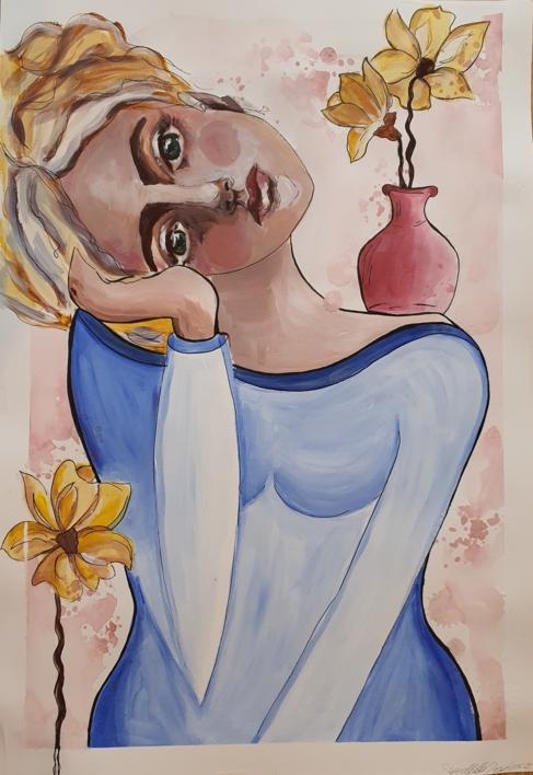 Esperando |Ilustración de Federica | Compra arte en Flecha.es