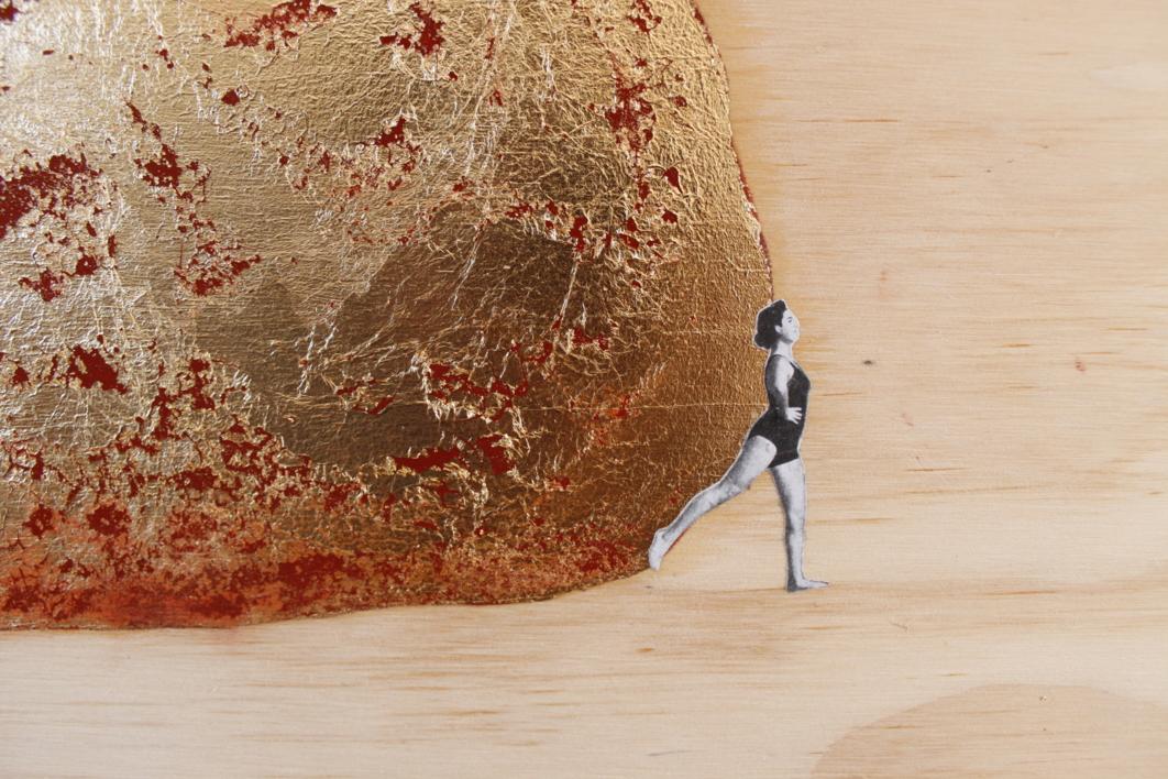 Si el tiempo es oro, el espacio también | Collage de Adriana Gurumeta | Compra arte en Flecha.es