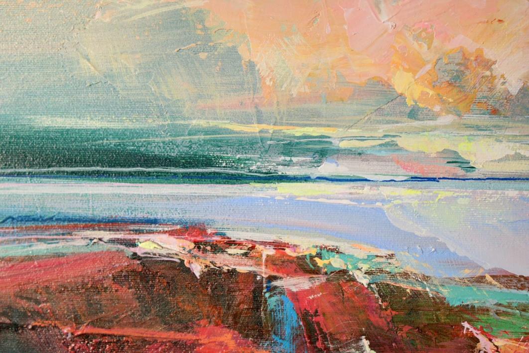 Rose Washed Sands 1 (Arenas rosadas)   Pintura de Magdalena Morey   Compra arte en Flecha.es