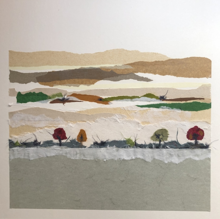 """Naturaleza horizontal II"" |Collage de Leticia González Serrano | Compra arte en Flecha.es"