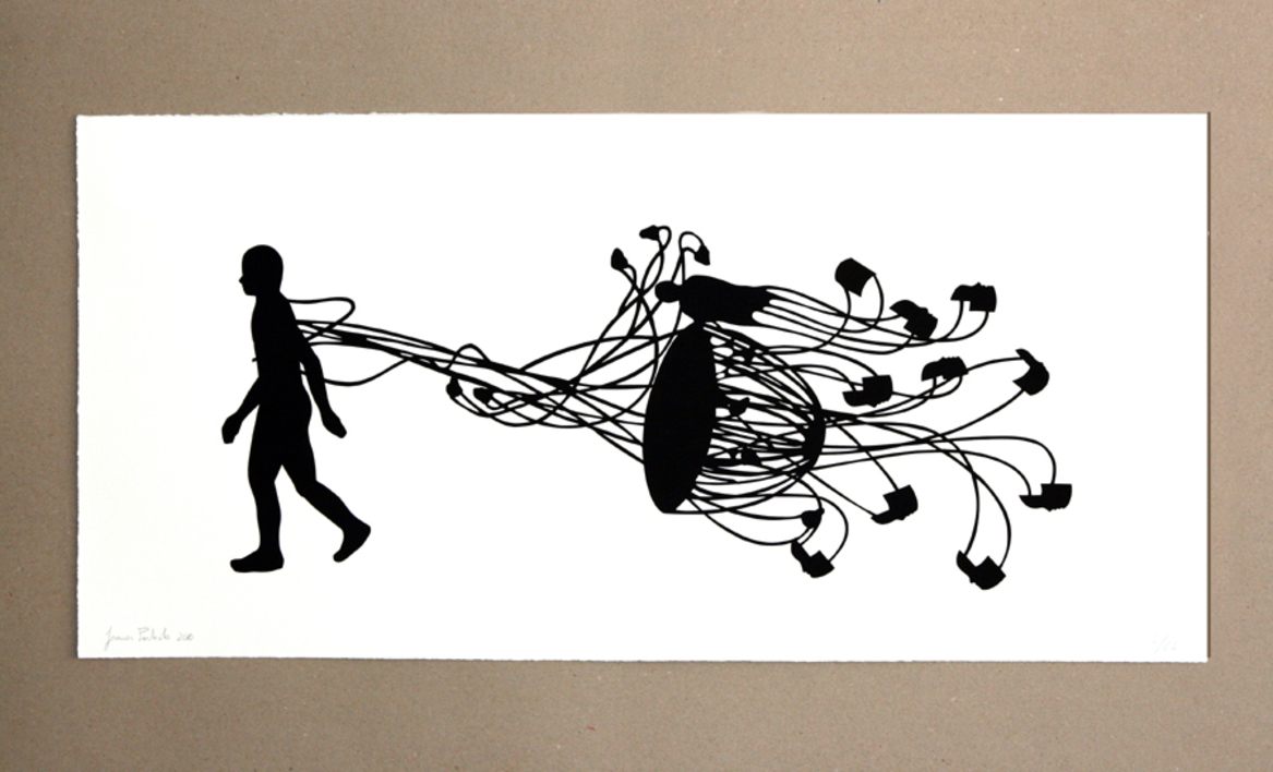 Caminante I  Obra gráfica de Javier Pulido   Compra arte en Flecha.es