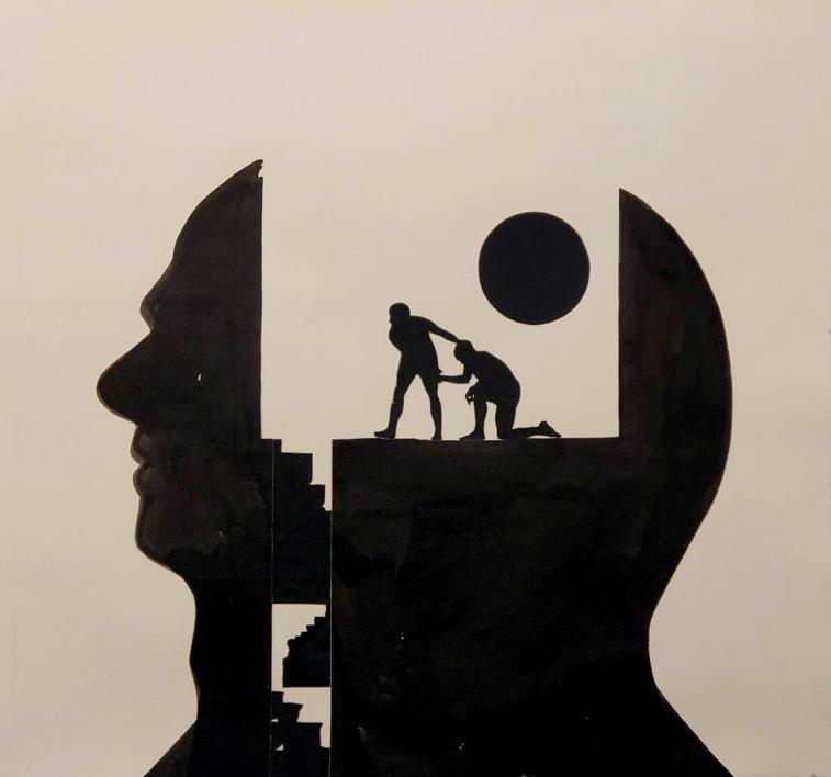 Cabeza  IV  Collage de Javier Pulido   Compra arte en Flecha.es