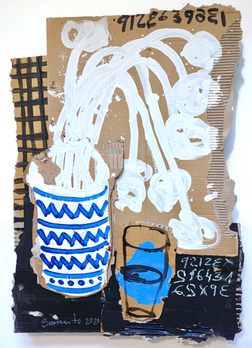 BODEGON AZUL |Collage de BARBEITO | Compra arte en Flecha.es