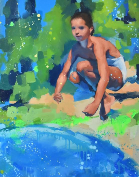 A la de tres...¡bomba! |Pintura de Teresa Infiesta | Compra arte en Flecha.es