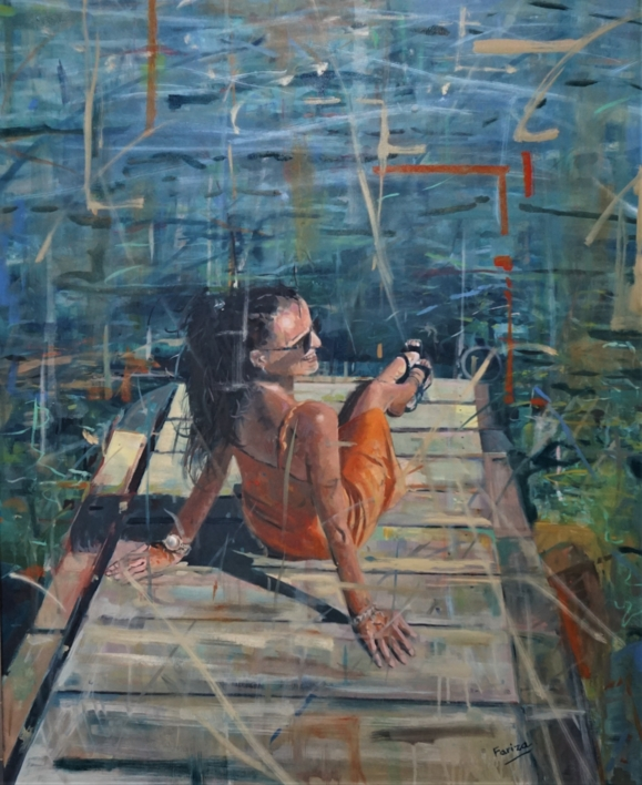 Tomando el sol |Pintura de Amaya Fernández Fariza | Compra arte en Flecha.es