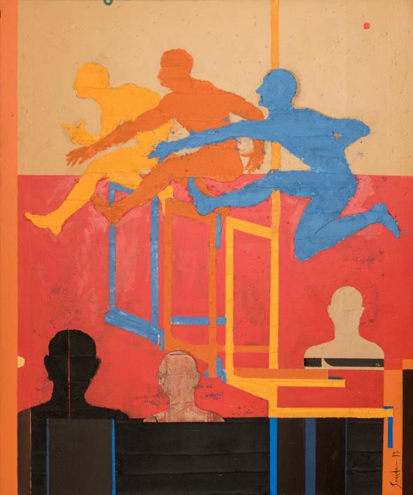 MARATON CROMATICO  Pintura de Luis Granda   Compra arte en Flecha.es