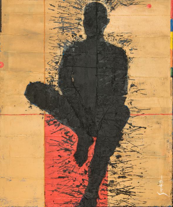PERSONAJE SENTADO |Pintura de Luis Granda | Compra arte en Flecha.es