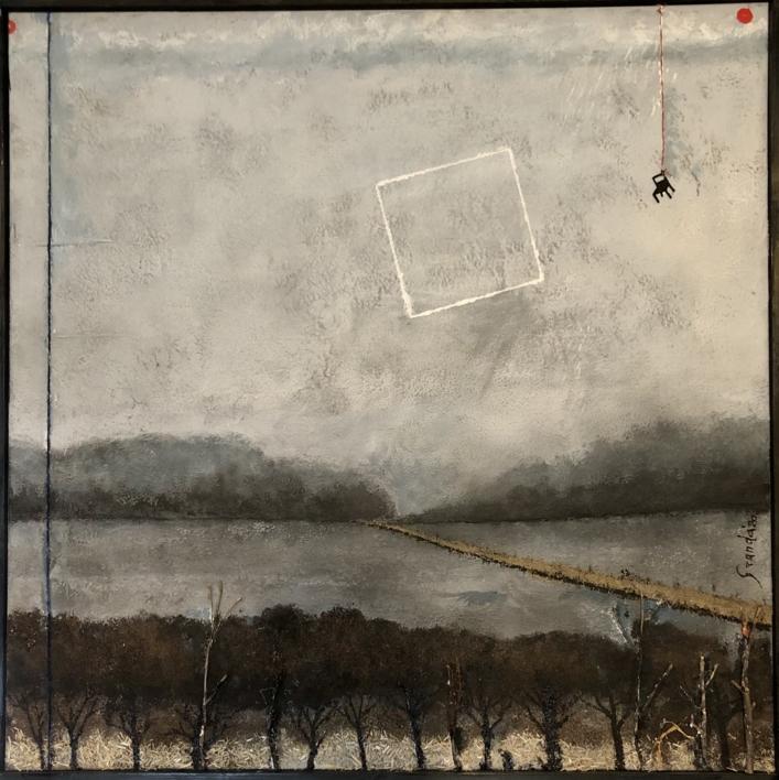 EN ESTE LAGO NO HAY CISNES |Pintura de Luis Granda | Compra arte en Flecha.es