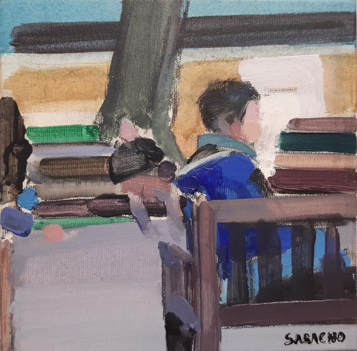 Talking to |Pintura de Saracho | Compra arte en Flecha.es