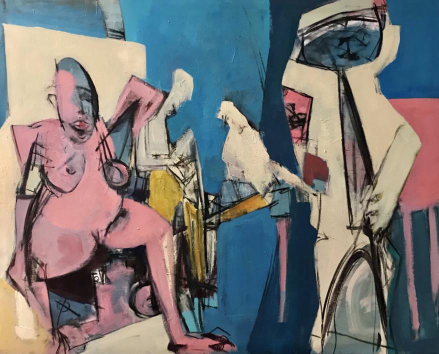 Peligro |Pintura de Oscar Leonor | Compra arte en Flecha.es
