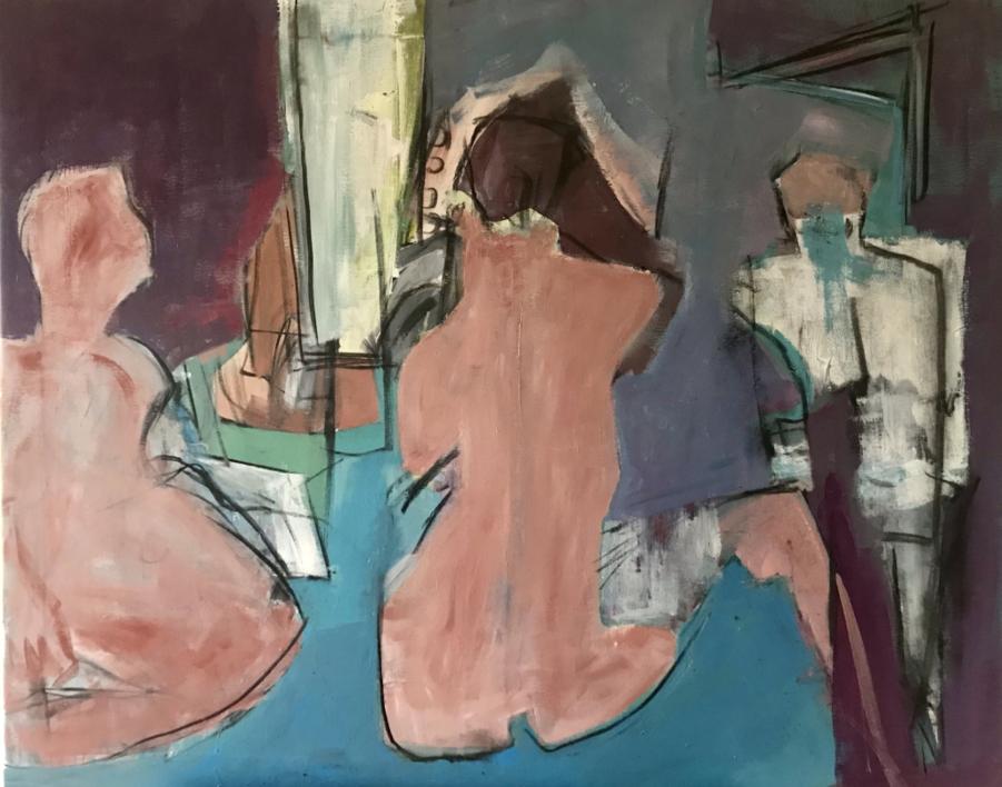 Night Club |Pintura de Oscar Leonor | Compra arte en Flecha.es