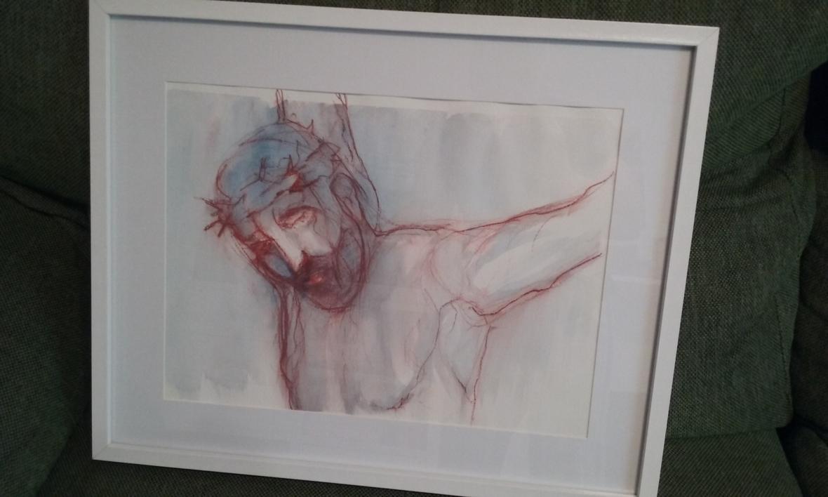 La pasión de Cristo III   Dibujo de OliverPlehn-Artist   Compra arte en Flecha.es