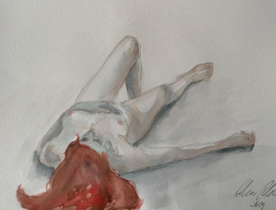 Nude V |Dibujo de OliverPlehn-Artist | Compra arte en Flecha.es