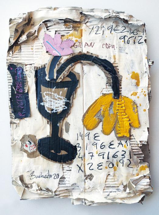ROSA Y AMARILLA |Collage de BARBEITO | Compra arte en Flecha.es