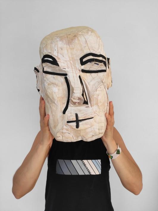 Escultura y fundamento humano (Cabeza blanca) |Fotografía de Olga Cáceres | Compra arte en Flecha.es