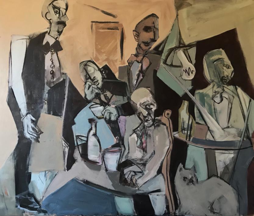 Café triste |Pintura de Oscar Leonor | Compra arte en Flecha.es