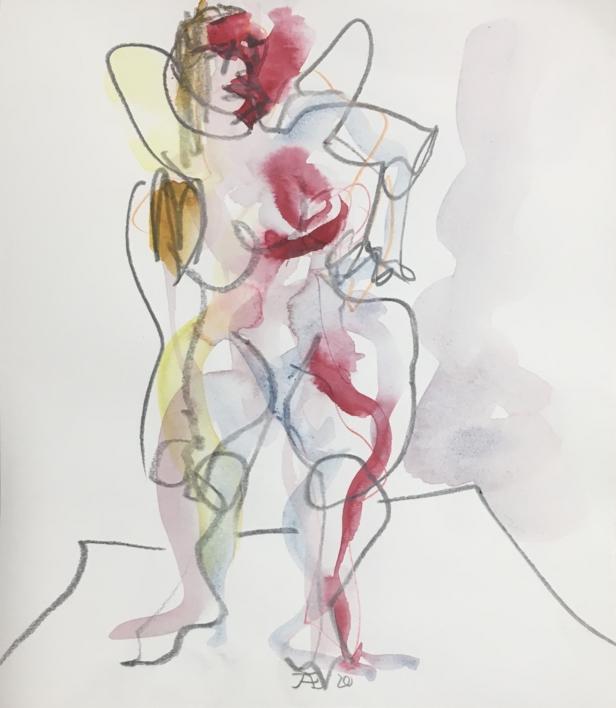 Mujer Plus  Dibujo de Jaelius Aguirre   Compra arte en Flecha.es