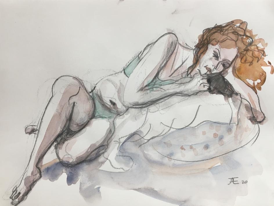 Pelirroja |Dibujo de Jaelius Aguirre | Compra arte en Flecha.es