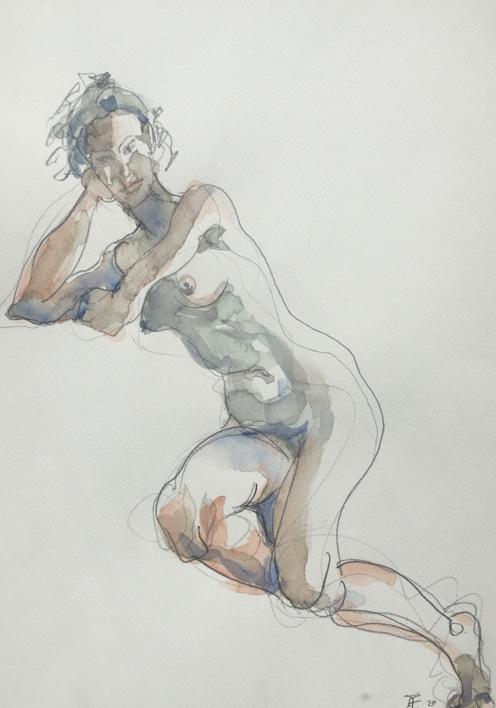 En la Diagonal |Dibujo de Jaelius Aguirre | Compra arte en Flecha.es