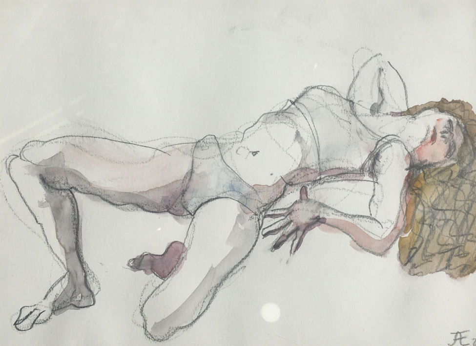 La Melena |Dibujo de Jaelius Aguirre | Compra arte en Flecha.es