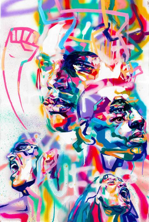 We´re here, we´re queer |Dibujo de Ivory | Compra arte en Flecha.es