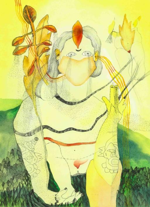 Chorar, El otoño abrazado. Segunda fuente. |Dibujo de Reme Remedios | Compra arte en Flecha.es
