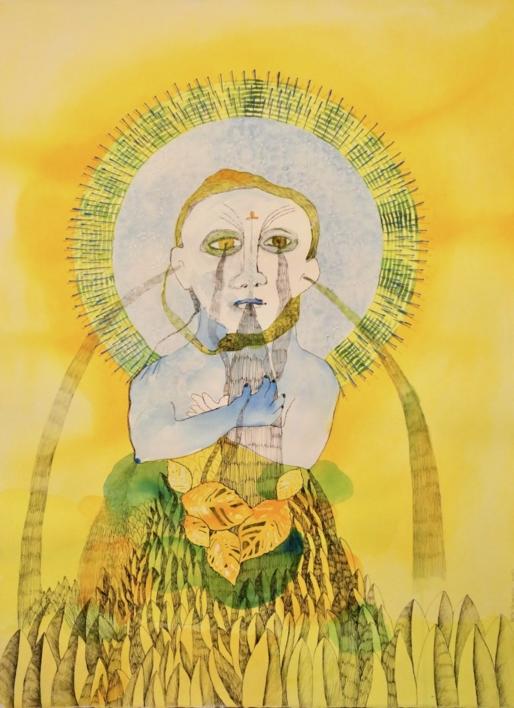 Chorar, Elipsis de Luz. Tercera fuente. |Dibujo de Reme Remedios | Compra arte en Flecha.es