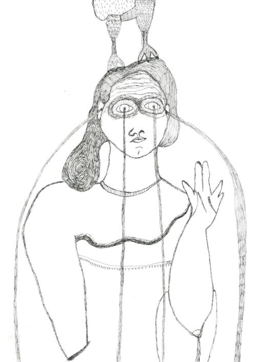 Chorar. Segunda fuente.  Dibujo de Reme Remedios   Compra arte en Flecha.es