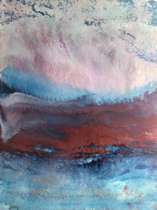 Tormenta en el mar  Pintura de Enric Correa   Compra arte en Flecha.es