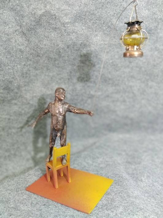 Déjame iluminar tu camino |Escultura de Reula | Compra arte en Flecha.es
