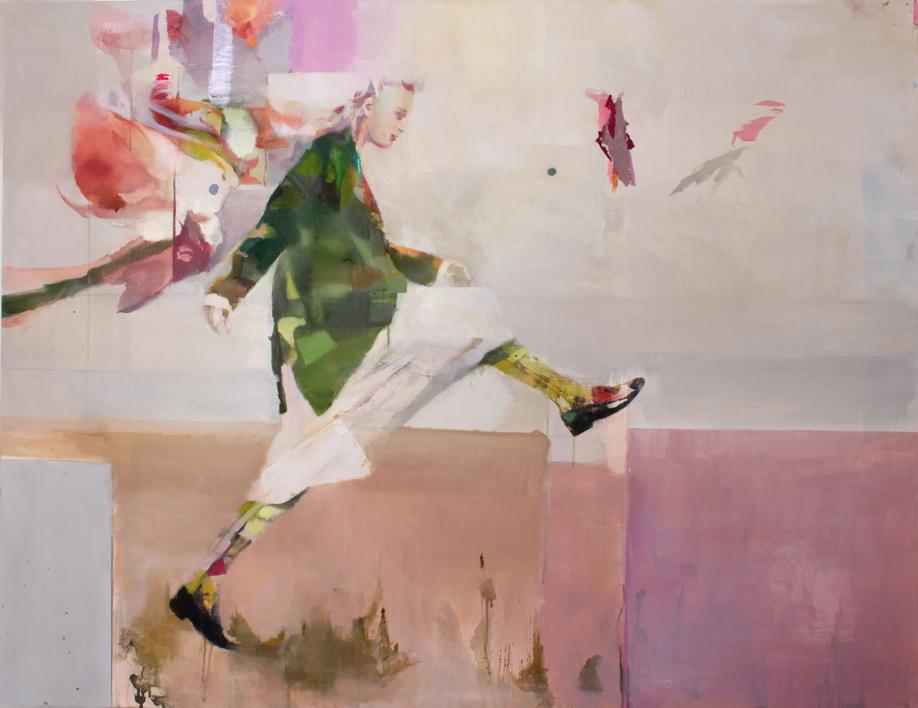 El salto  Pintura de Ana Alcaraz   Compra arte en Flecha.es