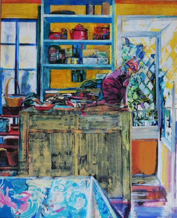 Leao |Pintura de Angeli Rivera | Compra arte en Flecha.es