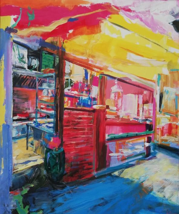 Paco |Pintura de Angeli Rivera | Compra arte en Flecha.es