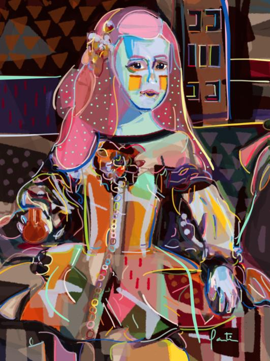 Menina  Digital de Santiago Esteban Glez   Compra arte en Flecha.es